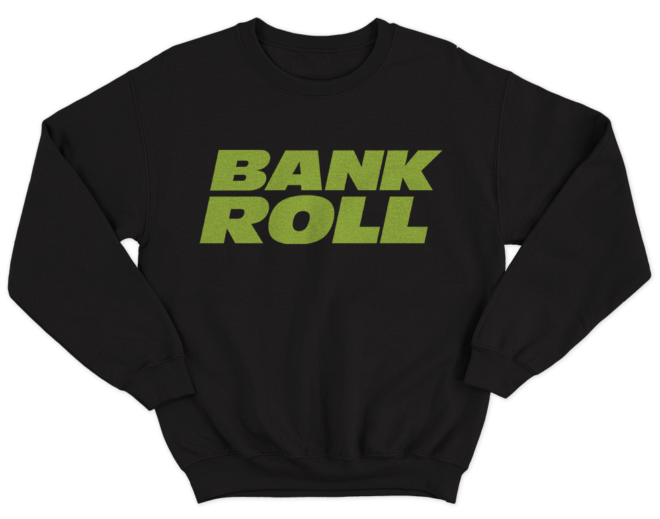 bankroll sweatshirt - black