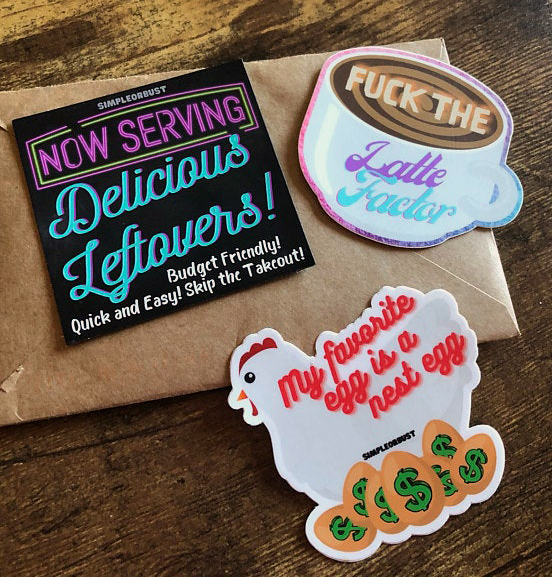 budgeter 3 pack stickers magnet