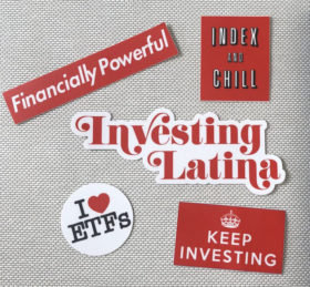 investing latina sticker pack