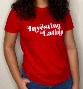 investing latina t-shirt - red
