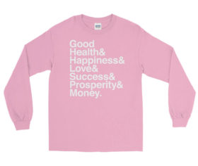 life goals ampersand long sleeve shirt