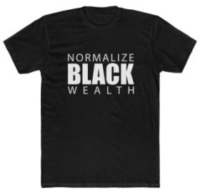 normalize black wealth t-shirt