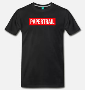 papertrail t-shirt